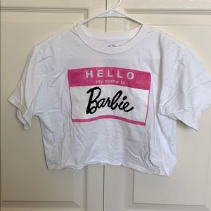 Cropped Barbie tee shirt